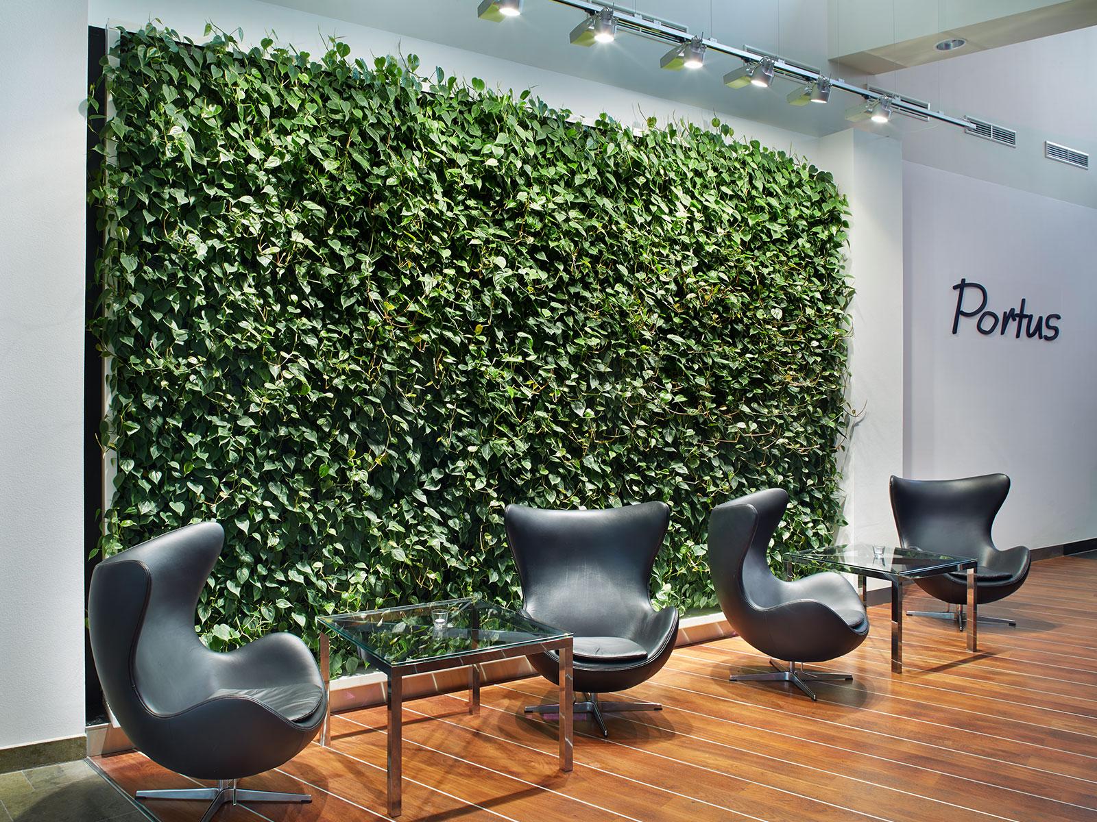 ein gl schen im gr nen die pflanzenwand zieht in die. Black Bedroom Furniture Sets. Home Design Ideas